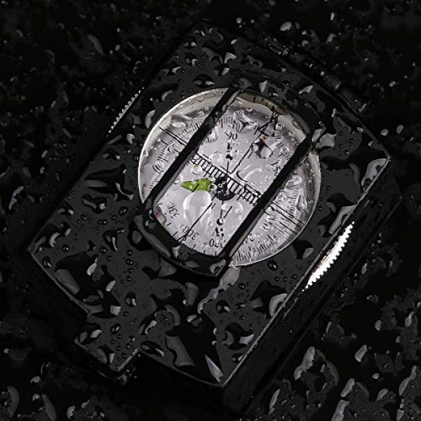 COSTIN Survival Compass 7 COSTIN Multifunctional Compass, Metal Military Waterproof High Accuracy Compass with Map Measurer, Distance Calculator,Bubble Level Perfect for Outdoor Activities, Matte Black