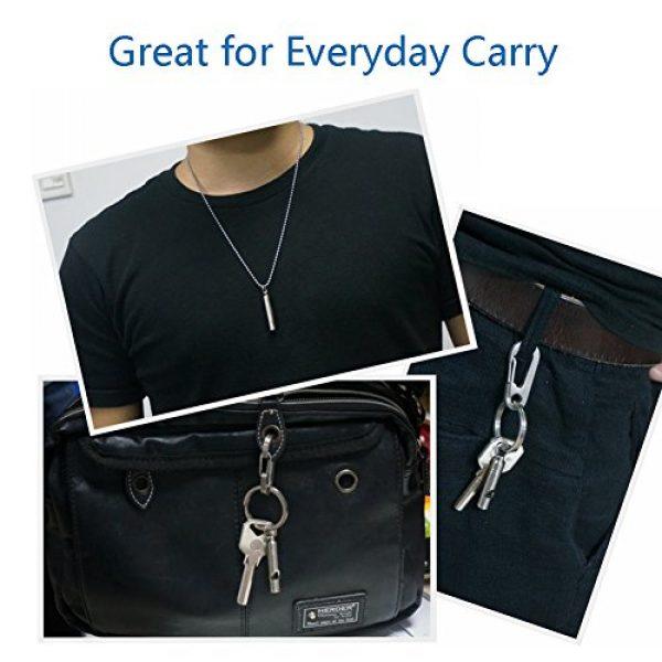 TI-EDC Survival Whistle 6 TI-EDC Titanium Emergency Whistle, Loud Portable Keychain Necklace Whistle for Emergency Survival, Life Saving, Hiking, Camping, and Pet Training