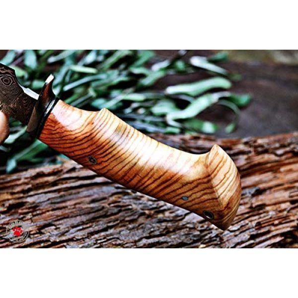 Bobcat Knives Fixed Blade Survival Knife 5 Bobcat Knives Custom Handmade Hunting Knife Damascus Steel Blade Olive Wood Handle 10'' Overall