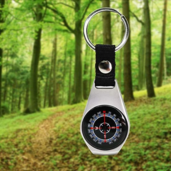 MIASTAR Survival Compass 5 MIASTAR Keychain Military Magnetic Compass   2 Pack Style Key Ring Compass   Waterproof/Shockproof   Mini Metal Keychain Compass   Survival Gear Compass for Kids Hiking, Camping, Motoring, Outdoor