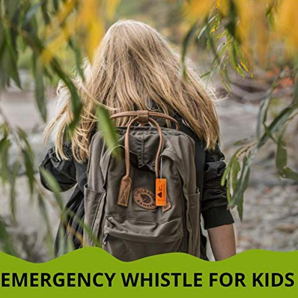 Outdoor Life Adventures Survival Whistle 4 Outdoor Life Adventures Emergency Survival Whistle with Small Chain for Camping, Hiking, Boating, and Kayaking ABS Plastic Super Loud Whistles Design for Rescue Signaling 2 Pack