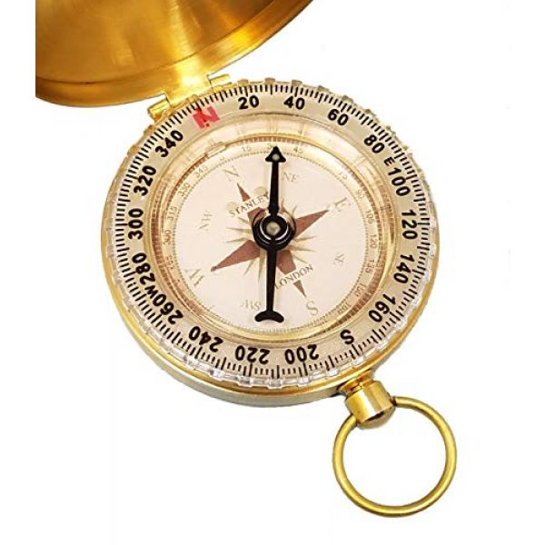 Stanley London Survival Compass 5 Stanley London Personalized Pocket Compass Engraved Joshua 1:9 (Be Strong and Courageous) - Great for Baptism, Confirmation, First Communion, Graduation