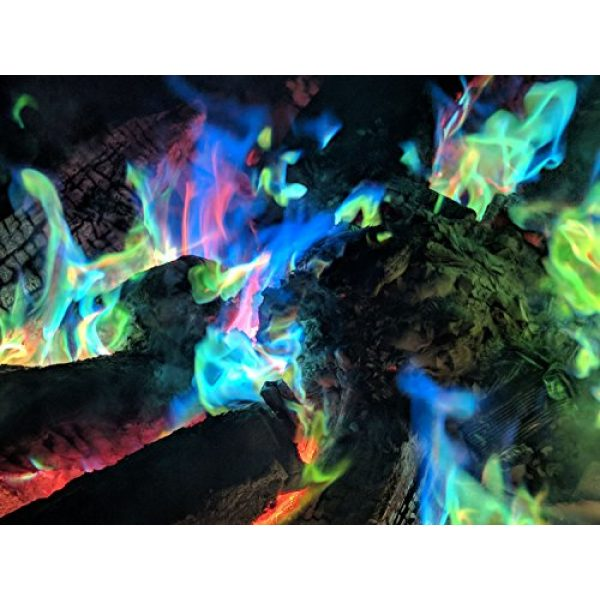 Mystical Fire Survival Fire Starter 7 Mystical Fire Flame Colorant Vibrant Long-Lasting Pulsating Flame Color Changer for Indoor or Outdoor Use 0.882 oz. Packets 2 Pack