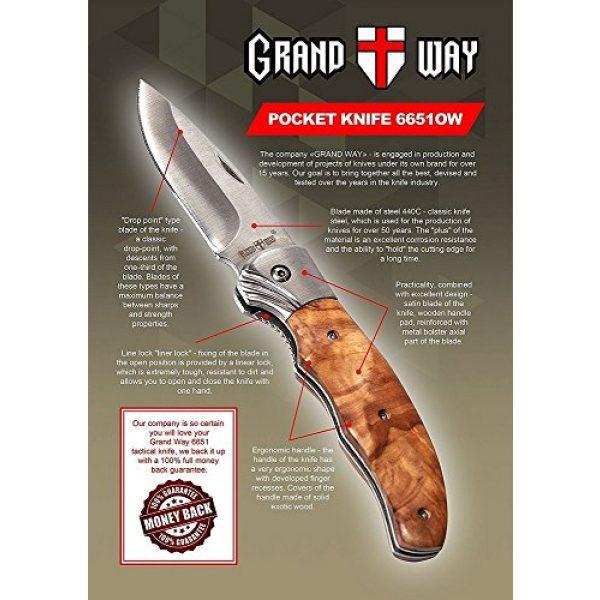 Grand Way Folding Survival Knife 2 Gentlemans Folding Knife Pocket Knife Knives Knofe Wood Handle Sharp Blade - Pocket Knife for Men - Best Folder for Camping Hunting - Survival EDC and Outdoor Gear Cool Mens Gift 6651 0924