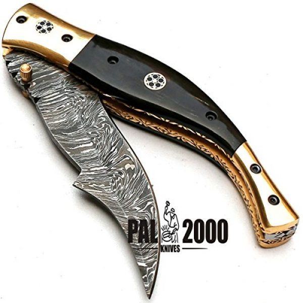 PAL 2000 KNIVES Fixed Blade Survival Knife 5 Custom Handmade Damascus Steel Hunting Folding Pocket Knife -Sword/Chef Kitchen Knife/Dagger/Full Tang/Skinner/Axe/Billet/Cleaver/Bar/Bowie/Kukri/knife accessories/survival/Camping With Sheath 8735