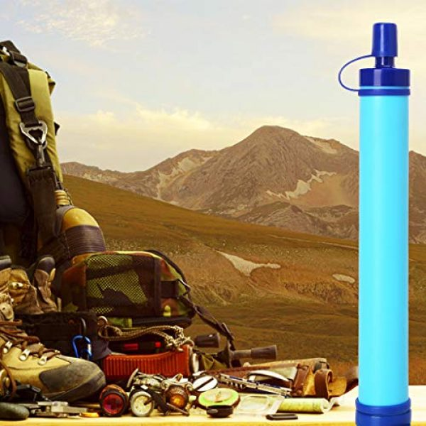 XIAOQIAO Survival Water Filter 4 XIAOQIAO 3 Set Straw Water Filter, Hiking Water Purifier, Camping Straw Filter for Backpacking,Outdoor Water Filtration System Survival Gear for Camping Hiking Climbing and Emergency