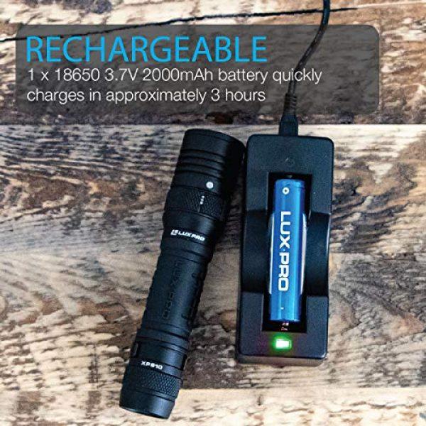LUX PRO Survival Flashlight 3 LUXPRO XP910 Tactical Compact Rechargeable 1000 Lumen Flashlight - 18650 Battery