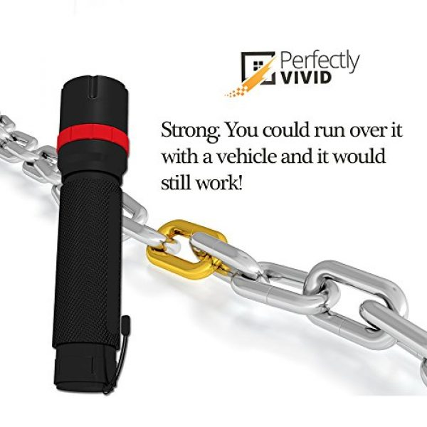 Perfectly Vivid Survival Flashlight 3 Perfectly Vivid Bright LED Tactical Flashlight With Focusing Lens Best High Lumen Output Waterproof Multiple Memory Mode, Aircraft Grade Aluminum Built To Last 100,000+ Hours! 100% Satisfaction Guaranteed