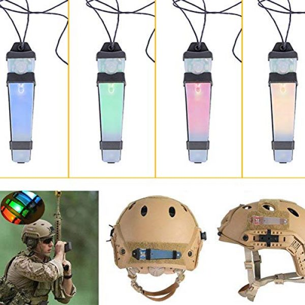 CyberDyer Survival Flashlight 4 CyberDyer Personal Identification Marker Light Tactical FMA Helmet Safety Flashing Light Survival Signal Light for Hunting Hiking Cycling