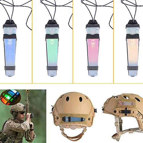 CyberDyer  4 CyberDyer Personal Identification Marker Light Tactical FMA Helmet Safety Flashing Light Survival Signal Light for Hunting Hiking Cycling