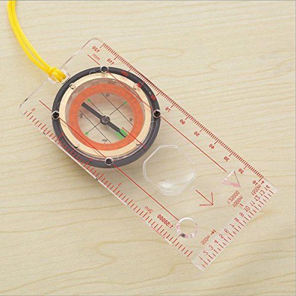 Denshine Survival Compass 5 Pocket Style Compass, Kids Camping Compass Kit Boy Compass Navigation Map Ruler for Outdoor