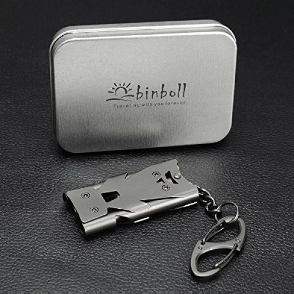 Binboll Survival Whistle 5 Binboll Whistle Emergency Whistles Keychain Rape Whistle Stainless Steel High Decibel Whistles
