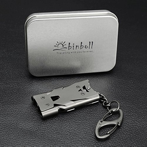 Binboll  5 Binboll Whistle Emergency Whistles Keychain Rape Whistle Stainless Steel High Decibel Whistles