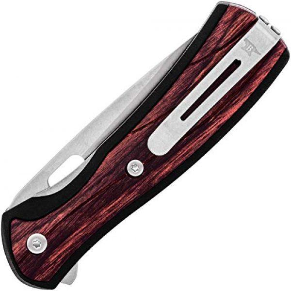 Buck Knives Folding Survival Knife 5 Buck Knives 0346RWS Vantage Select Folding Knife, Rosewood Handle, Sunburned Purple Symbiosis Print, 8