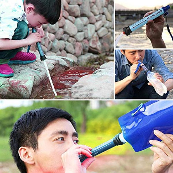 anne210 Survival Water Filter 3 anne210 Personal Water Filter,Water Filter Drinking Straw Water Filter Survival Filtration Portable Gear Emergency Preparedness Supply for Drinking Hiking Camping Travel Hunting Fishing