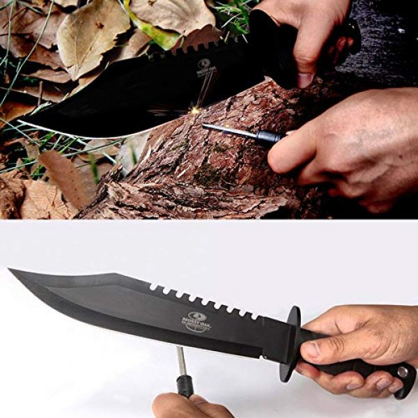 Mossy Oak Fixed Blade Survival Knife 3 Mossy Oak Survival Knife, 15-inch Fixed Blade Hunting Bowie Knife with Sharpener and Fire Starter, for Camping, Tactical, Outdoor