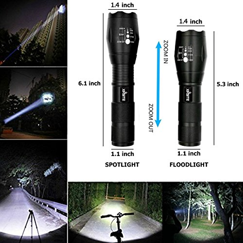 T6 Zoomable Handheld 900 High Lumens Tactical Flashlight
