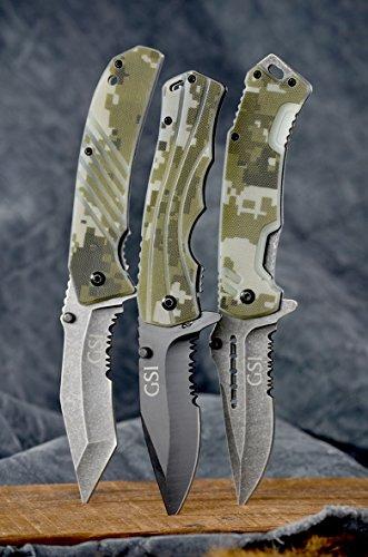 "3.5"" Blade. HRC 53-55 Steel. Hunting Knife. Survival Knife. Military Knife."