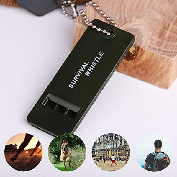 MountHood Survival Whistle 2 Portable Mini Emergency Whistle Double Frequency Key Chain for Outdoor, Training, Coach and Accident