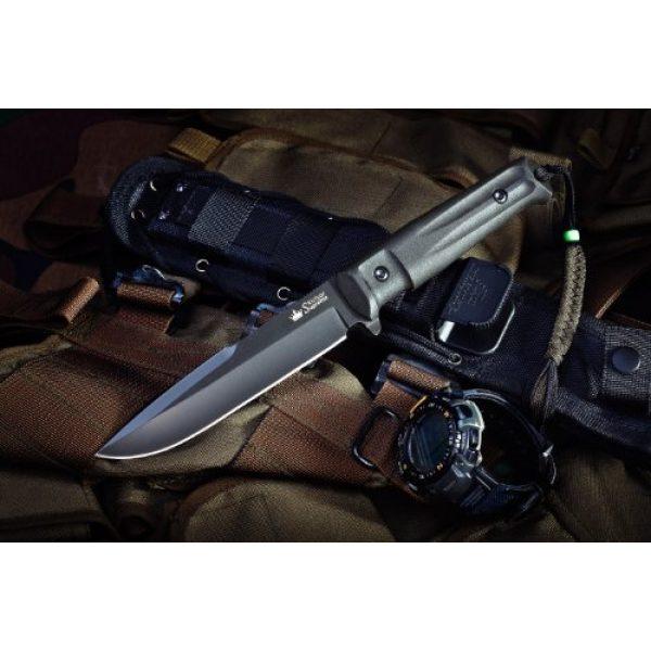 Kizlyar Fixed Blade Survival Knife 2 Kizlyar KK0208 Delta D2 Russian Made Titanium Tactical Knife, Black