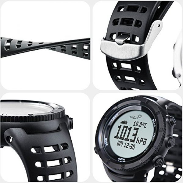 EZON Survival Compass 13 EZON Men's Digital Sports Watch for Outdoor Hiking with Compass Altimeter Barometer Thermometer Waterproof Military Watch Wristwatch H001H11