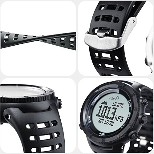EZON  6 EZON Men's Digital Sports Watch for Outdoor Hiking with Compass Altimeter Barometer Thermometer Waterproof Military Watch Wristwatch H001H11