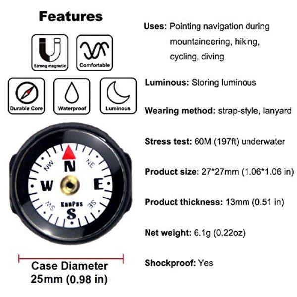 KanPas Survival Compass 6 KanPas Mini Luminous Button Compass for Watch Band Lanyard