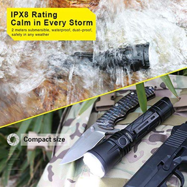 klarus Survival Flashlight 6 klarus XT21X 4000 Lumens Rechargeable Advanced Tactical Flashlight, Beam Reach 316m, CREE XHP70.2 P2 LED, 5000mAh IMR 21700 Battery, Super Bundle