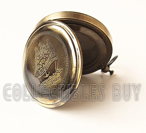 collectiblesBuy  6 Collectibles Buy Nautical Ross London Brass Round Pocket Compass Marine Navigational Royal Device Gift Item