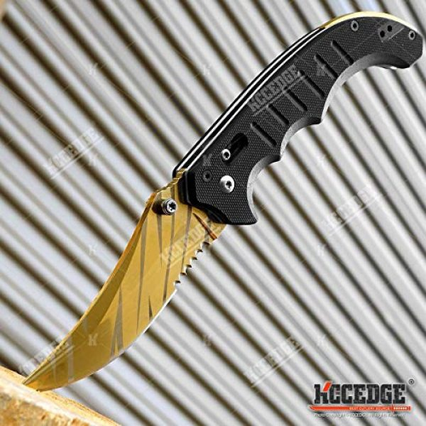 KCCEDGE BEST CUTLERY SOURCE Folding Survival Knife 5 KCCEDGE BEST CUTLERY SOURCE EDC Pocket Knife Camping Accessories Razor Sharp Edge Manual Open Folding Knife for Camping Gear Survival Kit Tactical Knife 51374