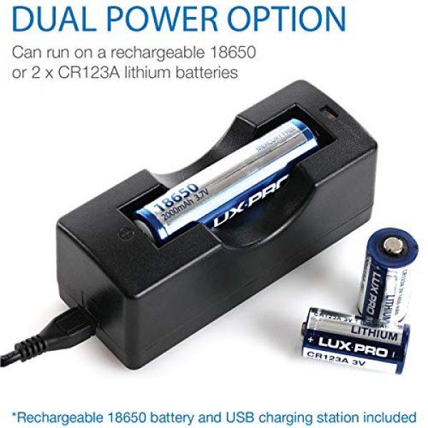 LUX PRO Survival Flashlight 4 LUXPRO XP910 Tactical Compact Rechargeable 1000 Lumen Flashlight - 18650 Battery