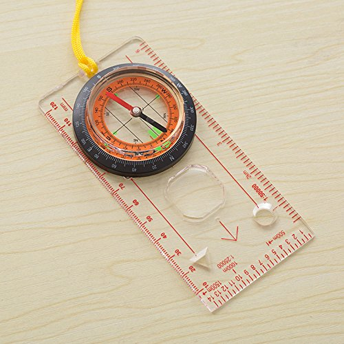Kids Camping Compass Kit Boy Compass Navigation Map Ruler for Outdoor