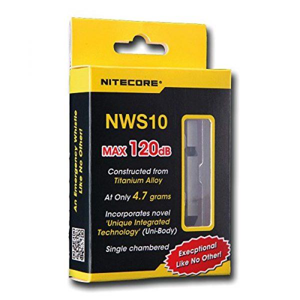 Nitecore Survival Whistle 4 Nitecore NWS10 TC4 Titanium Outdoor Emergency Whistle 120 Decibeles (NWS10 Emergency Whistle)