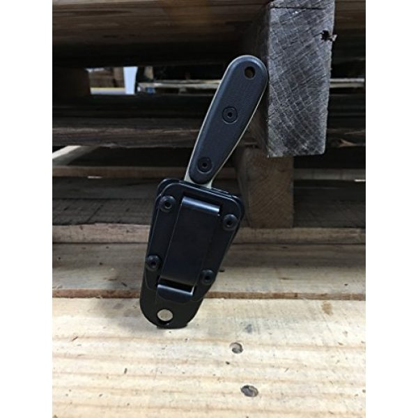 ESEE Fixed Blade Survival Knife 6 ESEE Knives Izula-DT w/Handle, Molded Polymer Sheath, and Clip Plate
