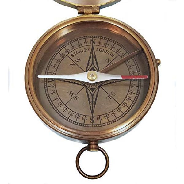 Stanley London Survival Compass 5 Stanley London Personalized Large Antique Pocket Compass Engraved with The Road Not Taken Poem by Robert Frost