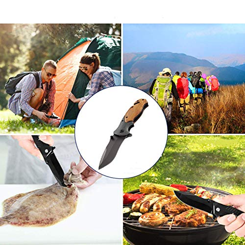 Unilove  6 Unilove Folding Knife Pocket Knife Outdoor Survival Knife Tactical Knife with Sheath for Camping Hunting Survival and Outdoor
