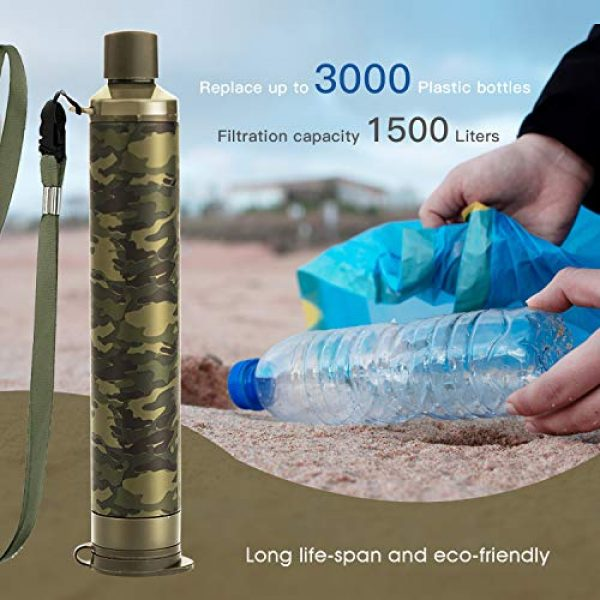 Membrane Solutions Survival Water Filter 6 Membrane Solutions Straw Water Filter,Survival Filtration Portable Gear,Emergency Preparedness,Supply for Drinking Hiking Camping Travel Hunting Fishing Family Outing