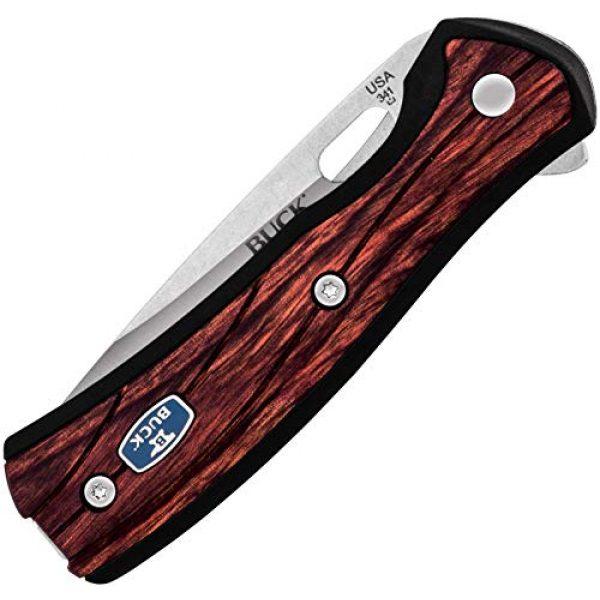 Buck Knives Folding Survival Knife 4 Buck Knives 0346RWS Vantage Select Folding Knife, Rosewood Handle, Sunburned Purple Symbiosis Print, 8
