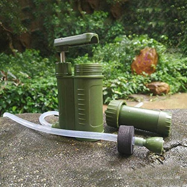 OULATUWB Survival Water Filter 4 OULATUWB Mini Water Filtration System Portable Gravity Powered Water Purifier for Emergency Preparedness and Camping
