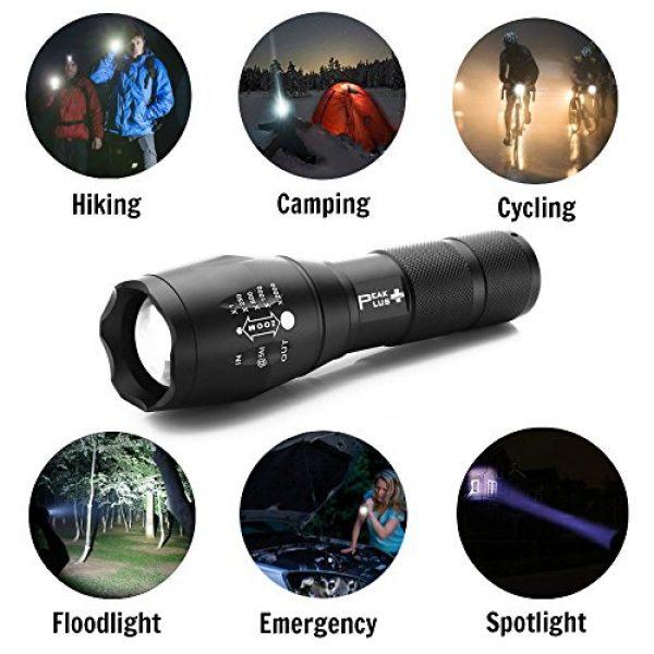 PeakPlus Survival Flashlight 7 PeakPlus LED Tactical Flashlight - Brightest Max 800 Lumens EDC Flashlight, High Powered Zoom 5 Modes Tac Light For Camping, Spotlight, Military, Emergency