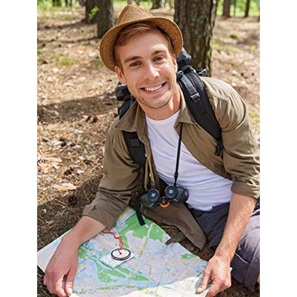 Gejoy Survival Compass 5 Gejoy Boy Scout Compass Orienteering Compass Map Compass for Hiking Fishing Camping Navigation