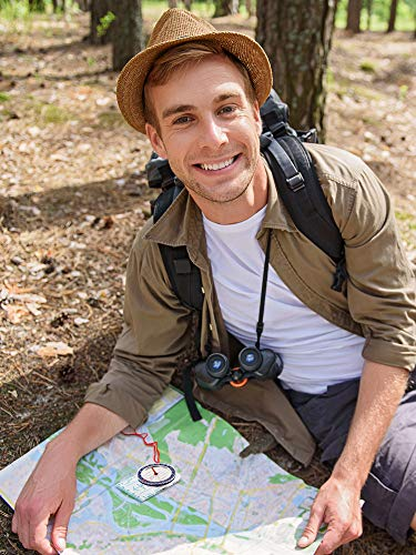 Gejoy  5 Gejoy Boy Scout Compass Orienteering Compass Map Compass for Hiking Fishing Camping Navigation