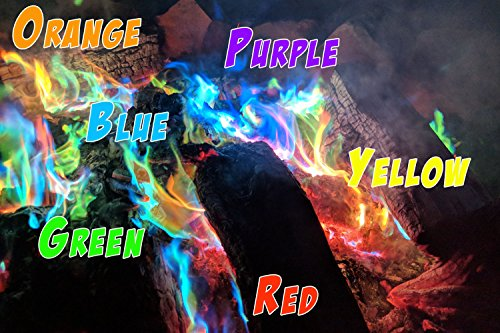 Mystical Fire  3 Mystical Fire Flame Colorant Vibrant Long-Lasting Pulsating Flame Color Changer for Indoor or Outdoor Use 0.882 oz. Packets 2 Pack