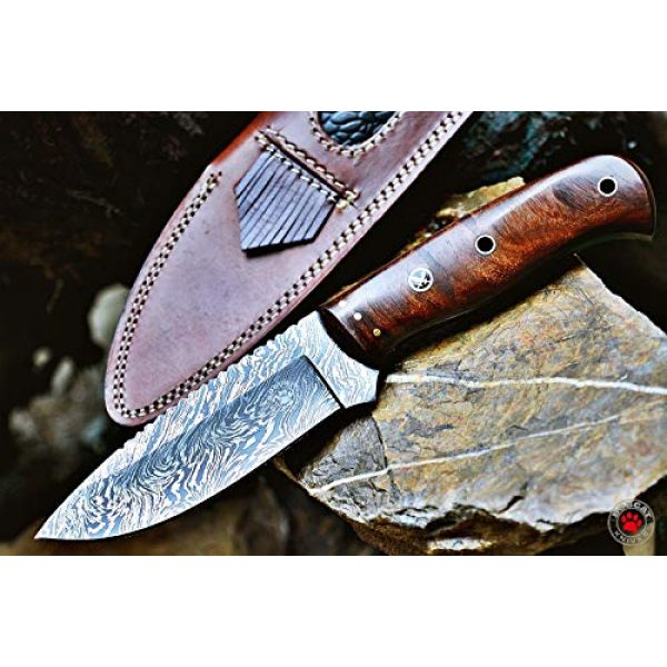 Bobcat Knives Fixed Blade Survival Knife 2 Bobcat Knives Custom Handmade Bushcraft Hunter Skinner EDC Knife Damascus Steel