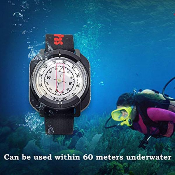 KanPas Survival Compass 7 Diving Sighting Wrist Compass for Outdoor Orienteering Mountaineering Hiking