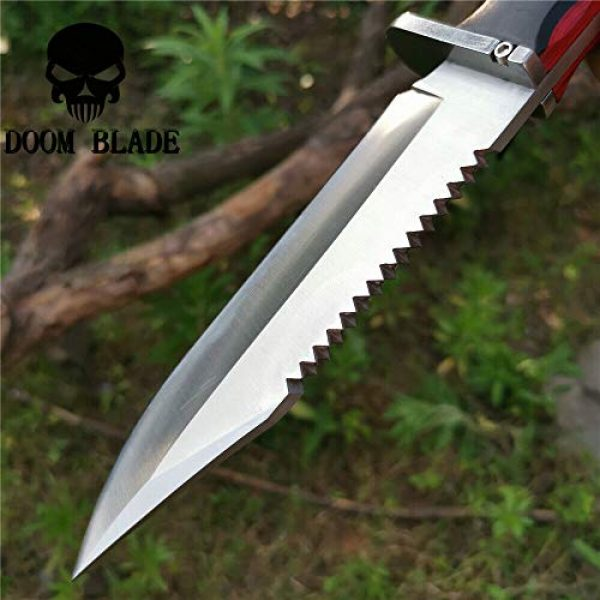Doom blade Fixed Blade Survival Knife 7 11.8IN Hunting Survival Knife 8Cr13 Wood Handle Tactical Army Fixed Blade Knives