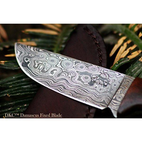 "DKC Knives Fixed Blade Survival Knife 2 Sale (33 5/18) DKC-73 Survival 1 Damascus Hunting Knife 8"" Long 4"" Blade 5.4 oz ! Walnut Handle"