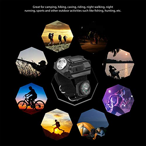 SUNDERPOWER  7 Portable Rechargeable Wrist Light - Waterproof LED Tactical Flashlight for Outdoor Running Hiking Camping Birthday Gift