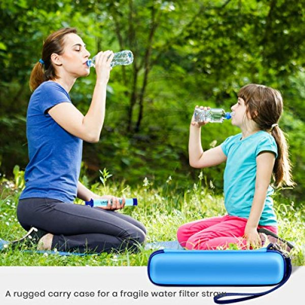 ALKOO Survival Water Filter 6 ALKOO Camping Water Filter Case for LifeStraw Steel Personal Water Filter Sewage Purification, Hiking/Backpacking/Survival Gear Box - Sky Blue