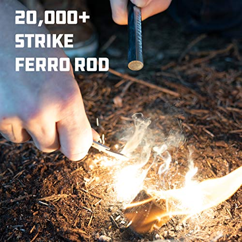 UCO Survival Fire Starter 2 UCO Titan Fire Striker with Tether and Multitool, 20,000+ Strikes